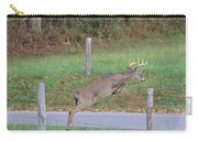 Leaping Buck In Smoky Mountains Carry-all Pouch by Dan Sproul