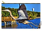 Leaping Egret Carry-all Pouch