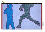 Leather Texture Art Bowler And Pitcher Base Ball Game Sports Competition Carry-all Pouch