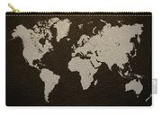 Leather Texture Map Of The World Carry-all Pouch