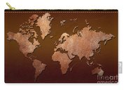 Leather World Map Carry-all Pouch by Zaira Dzhaubaeva