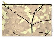 Leaves Fade To Beige Melody Carry-all Pouch by Jennie Marie Schell
