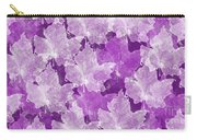 Leaves In Radiant Orchid Carry-all Pouch