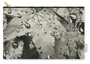 Leaves In Rain Carry-all Pouch