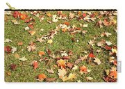 Leaves On Grass Carry-all Pouch