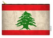 Lebanon Flag Vintage Distressed Finish Carry-all Pouch