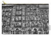 Led Zeppelin Physical Graffiti Building In Black And White Carry-all Pouch