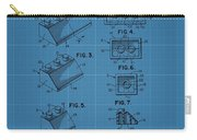 Lego Building Blocks Blueprint Patent Carry-all Pouch