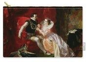 Leicester And Amy Robsart At Cumnor Carry-all Pouch by Edward Matthew Ward