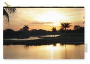 Lely Sunrise Over The Flamingo Carry-all Pouch