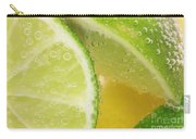 Lemon And Lime Slices In Water Carry-all Pouch