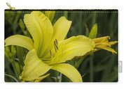 Lemon Yellow Daylily Blossom Carry-all Pouch