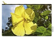 Lemon Yellow Hibiscus Carry-all Pouch