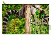 Lemur In The Green Carry-all Pouch