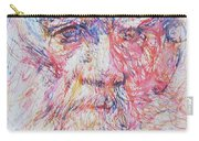 Leo Tolstoy/ Colored Pens Portrait Carry-all Pouch