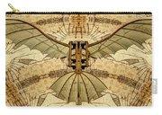 Leonardo Da Vinci Antique Flying Machine Under Parchment Carry-all Pouch