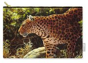Leopard Painting - On The Prowl Carry-all Pouch