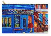 Les Belles Soeurs  Montreal Restaurant Plateau Mont Royal Painting By Carole Spandau Carry-all Pouch