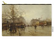 Les Boulevards Paris Carry-all Pouch by Eugene Galien-Laloue
