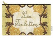 Les Toilettes Carry-all Pouch by Debbie DeWitt