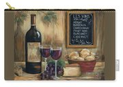 Les Vins Carry-all Pouch by Marilyn Dunlap