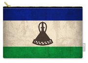 Lesotho Flag Vintage Distressed Finish Carry-all Pouch