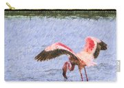 Lesser Flamingo Filter Feeding Lake Nakuru Kenya Carry-all Pouch