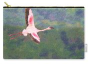 Lesser Flamingo Phoenicopterus Minor Flying Carry-all Pouch