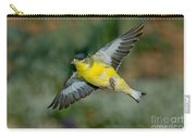 Lesser Goldfinch Male-flying Carry-all Pouch