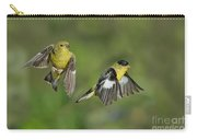 Lesser Goldfinch Pair In Flight Carry-all Pouch