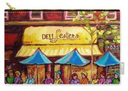 Lester's Deli Montreal Smoked Meat Paris Style French Cafe Paintings Carole Spandau Carry-all Pouch