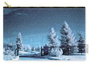 Let It Snow Blue Version Carry-all Pouch