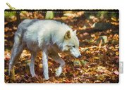 Let The Timber Wolf Live Carry-all Pouch by John Haldane