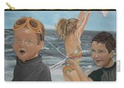 Beach - Children Playing - Kite Carry-all Pouch