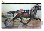 Racehorse Painting In Watercolor Let's Roll Carry-all Pouch