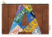 Letter A Alphabet Vintage License Plate Art Carry-all Pouch