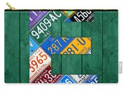 Letter E Alphabet Vintage License Plate Art Carry-all Pouch by Design Turnpike