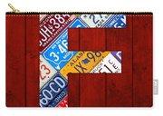 Letter F Alphabet Vintage License Plate Art Carry-all Pouch