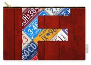 Letter F Alphabet Vintage License Plate Art Carry-all Pouch