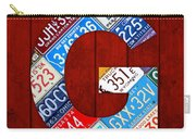 Letter G Alphabet Vintage License Plate Art Carry-all Pouch