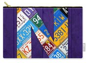 Letter N Alphabet Vintage License Plate Art Carry-all Pouch