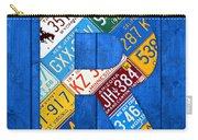 Letter R Alphabet Vintage License Plate Art Carry-all Pouch