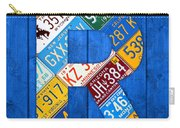 Letter R Alphabet Vintage License Plate Art Carry-all Pouch by Design Turnpike