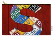 Letter S Alphabet Vintage License Plate Art Carry-all Pouch