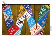 Letter W Alphabet Vintage License Plate Art Carry-all Pouch