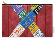 Letter X Alphabet Vintage License Plate Art Carry-all Pouch