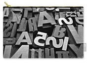 Letters And Numbers 1 Carry-all Pouch