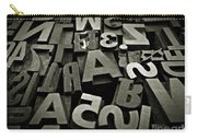 Letters And Numbers Gray Tones Carry-all Pouch