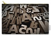 Letters And Numbers Sepia 2 Carry-all Pouch