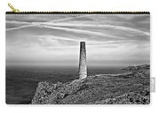 Levant To Pendeen View Black And White Carry-all Pouch